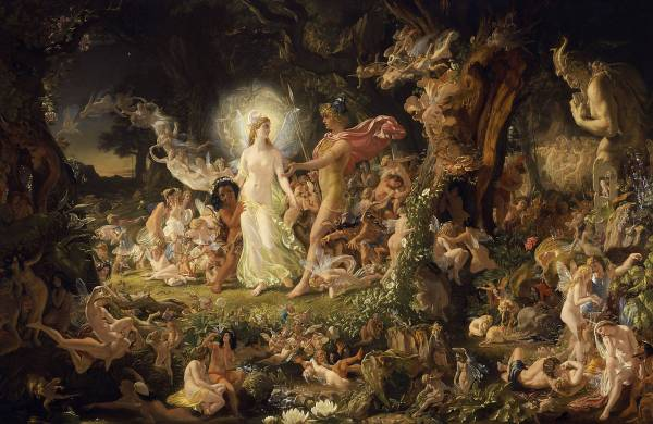 """Sir Joseph Noel Paton - The Quarrel of Oberon and Titania - Google Art Project 2"" by Joseph Noel Paton - Google Art Project: Home – pic Maximum resolution.. Licensed under Public Domain via Commons - https://commons.wikimedia.org/wiki/File:Sir_Joseph_Noel_Paton_-_The_Quarrel_of_Oberon_and_Titania_-_Google_Art_Project_2.jpg#/media/File:Sir_Joseph_Noel_Paton_-_The_Quarrel_of_Oberon_and_Titania_-_Google_Art_Project_2.jpg"