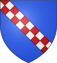 """Blason sicile famille Hauteville"" by S@mImage created for the Blazon Project of the French Wikipedia - Own workiThe source code of this SVG is valid.This vector image was created with Inkscape by S@m.. Licensed under CC BY-SA 3.0 via Commons - https://commons.wikimedia.org/wiki/File:Blason_sicile_famille_Hauteville.svg#/media/File:Blason_sicile_famille_Hauteville.svg"
